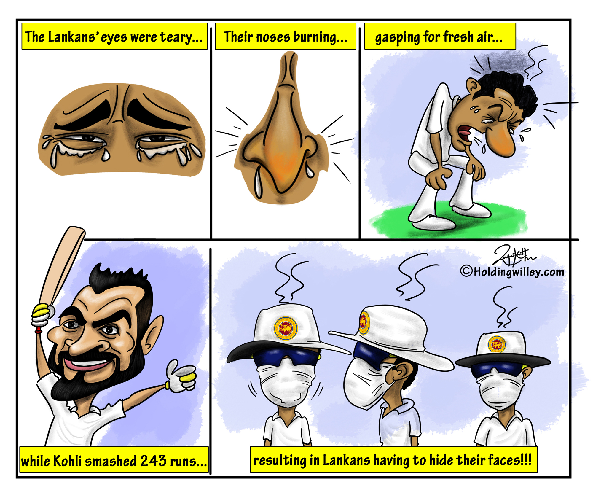 Virat Kohli Sri Lanka Cartoon