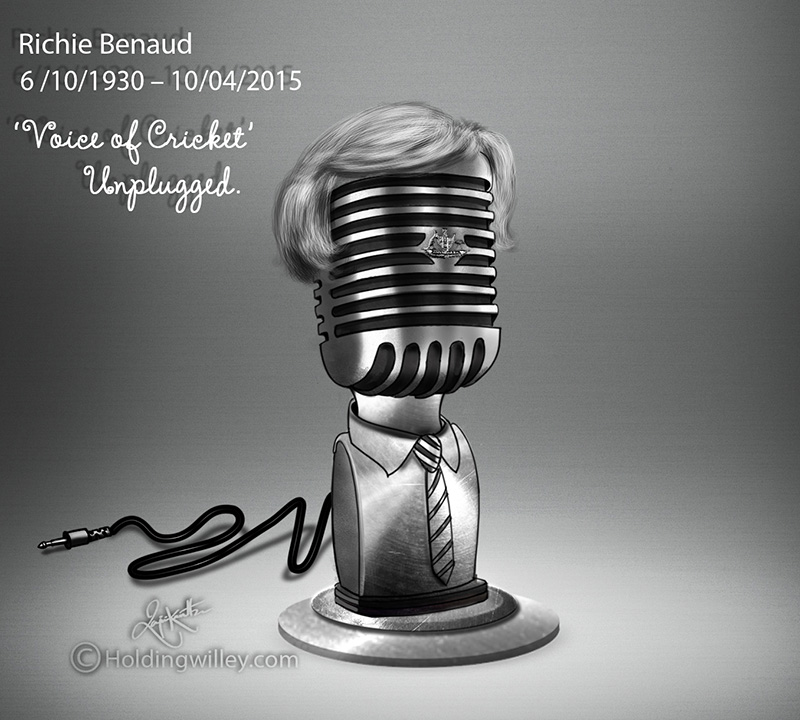 Richard Benaud Commemoration Cartoon