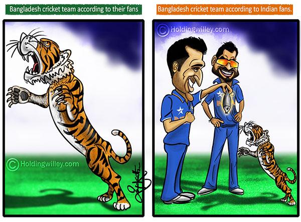 Cricket Cartoons - The Great Bengal Tiger | Bangladesh