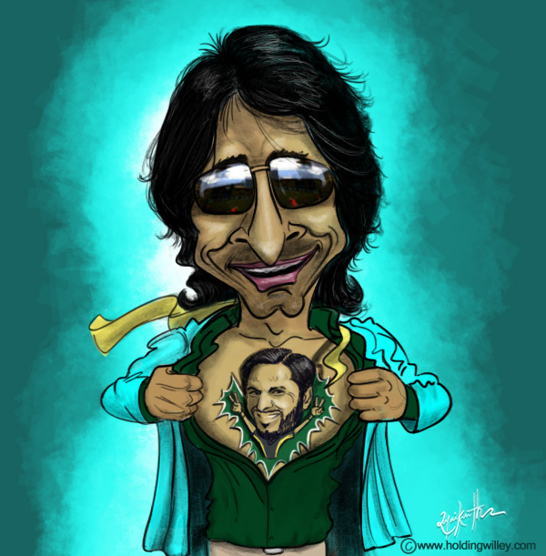 Rameez Raja Cricket Cartoon